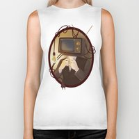 tv Biker Tanks featuring TELEVISION by FISHNONES