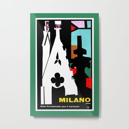 Milan Milano Italy travel, abstract cubist Metal Print