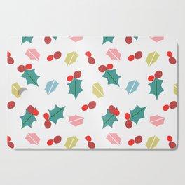 cute mistletoe white Cutting Board