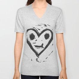 :-/ Heart Unisex V-Neck