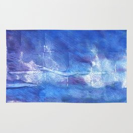 Han blue watercolor Rug