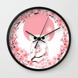 Sakura Kokeshi Wall Clock