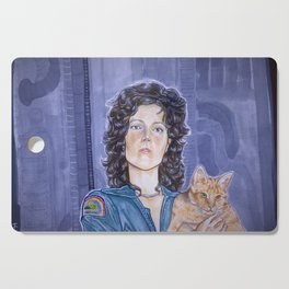 In Space No One Can Hear Your Cat Cutting Board