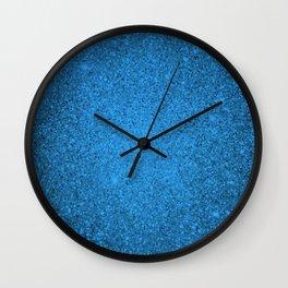Aquamarine Blue Sparkling Jewels Pattern Wall Clock