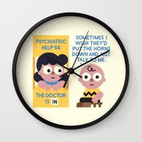 psychology Wall Clocks featuring Muted Affection by David Olenick