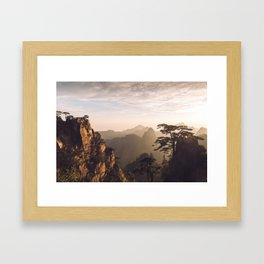 Sunrise in the Yellow Mountains Framed Art Print
