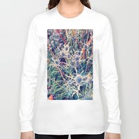 shabby chic Long Sleeve T-shirts featuring Exotic Garden, shabby chic flowers, modern home decor by Scarlett Ella