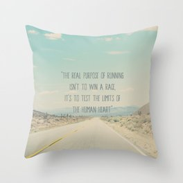 The real purpose of running print Throw Pillow