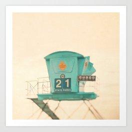 Lifeguard Tower Photo. No. 21 Art Print