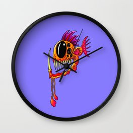 Creatures from the deep dark sea - Groovy Fang Angler Fish Wall Clock