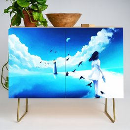 Lighthouse At The Sea Credenza