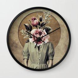 Flower lady Wall Clock