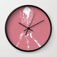 legs Wall Clocks featuring Legs by Artefy