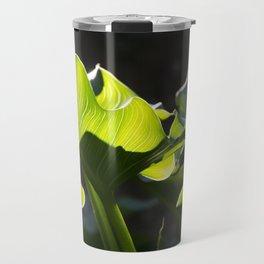 Green Contrast - Light and Dark Travel Mug