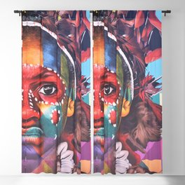 Art Piece by Bruce Warrington Blackout Curtain