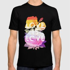 Love is Love Mens Fitted Tee Black LARGE