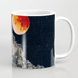 Blood Moon Over Mont-Saint-Michel Coffee Mug