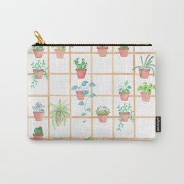 Watercolor Pot Plants Carry-All Pouch
