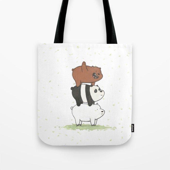 we bare bears by maria piedra tote bag by cobrachampagne society6