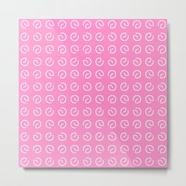 Antic pattern 14- from LBK pink Metal Print