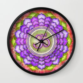 Sahasrara Chakra - Crown Chakra - Series III Wall Clock