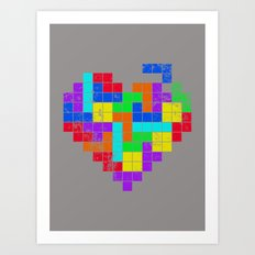 THE GAME OF LOVE Art Print