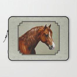 Chestnut Morgan Horse Laptop Sleeve