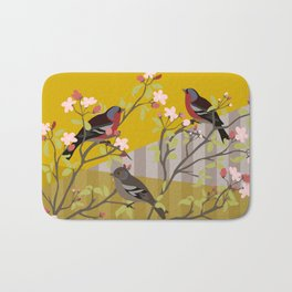 chaffinches in the cherry tree Bath Mat