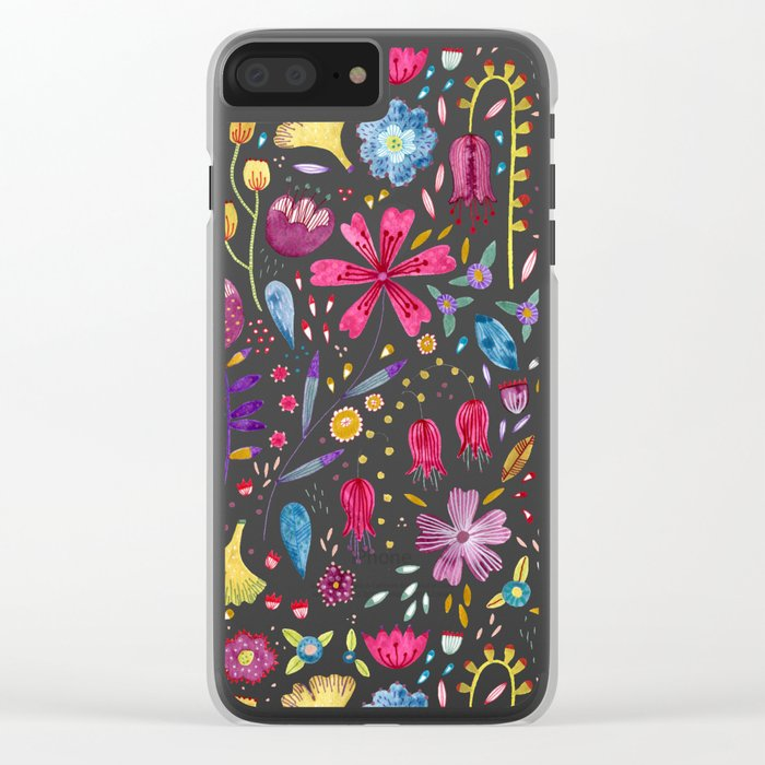 Autumn Hedgerow Clear iPhone Case