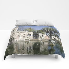 Royal Gardens Reflection - Alcazar of Seville Comforters