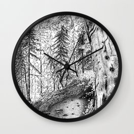 On the Trail Wall Clock