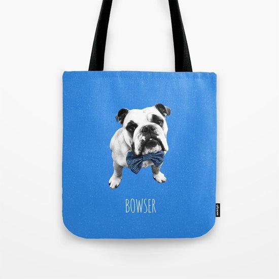 Blue Bowser Tote Bag