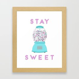 Stay Sweet Framed Art Print