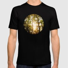 Sunset Glow MEDIUM Mens Fitted Tee Black