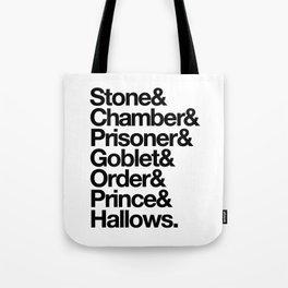 Stone & Chamber & Prisoner & Goblet & Order & Prince & Hallows Tote Bag