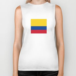 Flag of Colombia-Colombian,Bogota,Medellin,Marquez,america,south america,tropical,latine america Biker Tank