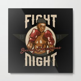 Sports - Heavyweight - Fight Night Metal Print