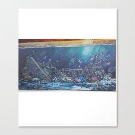 Seaside Mural Canvas Print