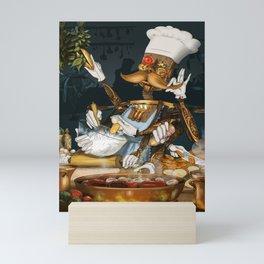 Robot Chef Mini Art Print
