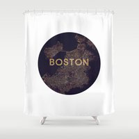 vintage map Shower Curtains featuring map by go_alexxa_go