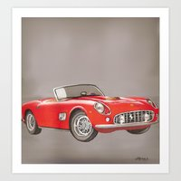 ferrari Art Prints featuring Ferrari by Alfonso Aranda