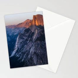 Sunkissed Half Dome at Sunset Stationery Cards