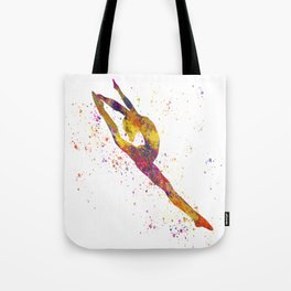 Rhythmic gymnastics competition in watercolor 03 Tote Bag