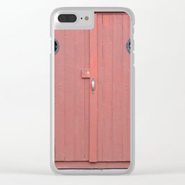 Red Port Hole Door Clear iPhone Case