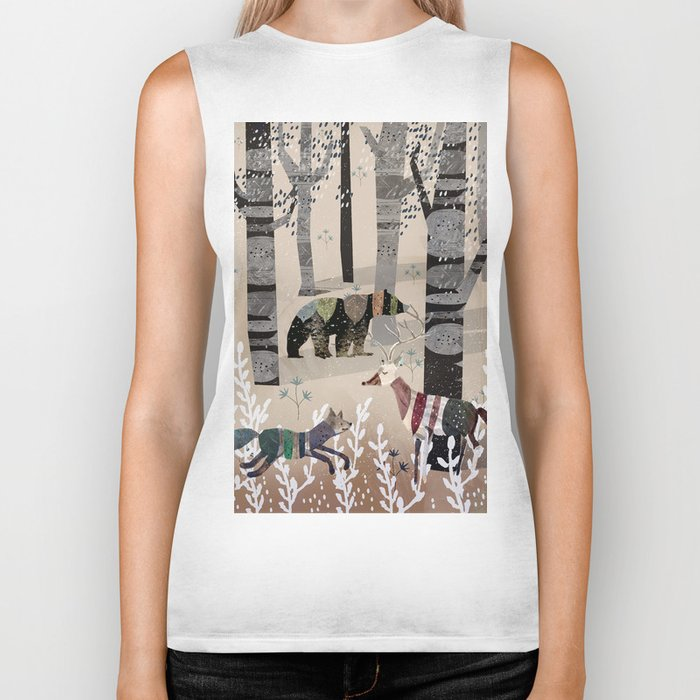 Forest in Sweater Biker Tank