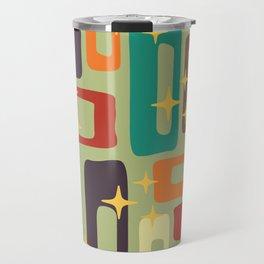 Retro Mid Century Modern Abstract Pattern 225 Travel Mug
