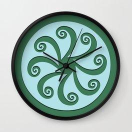 "Geometic Print ""Octo"" Wall Clock"