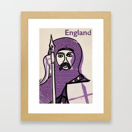 England and Saint George vintage style travel poster Framed Art Print