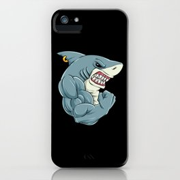 Shark At The Gym   Fitness Training Muscles iPhone Case