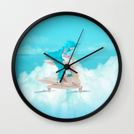 bunny girl Flight Time Wall Clock